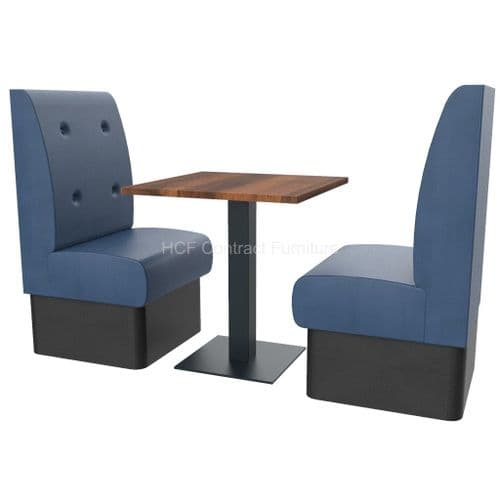 Floating Button Back 2 Seater Booth Set - High Back