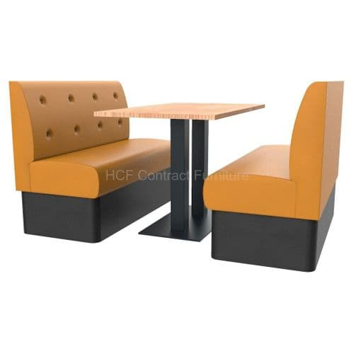 Floating Button Back 4 Seater Booth Set