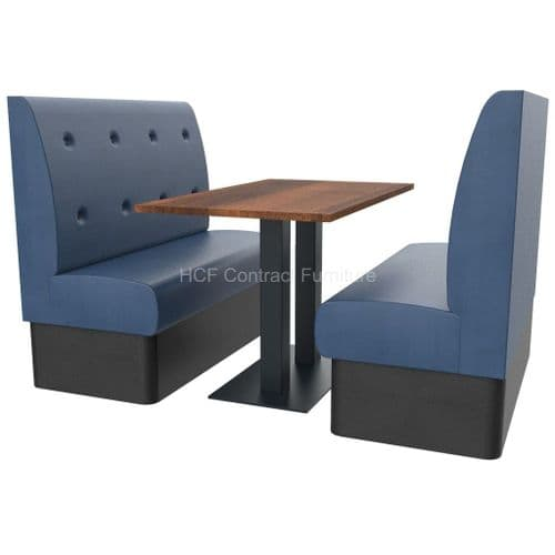 Floating Button Back 4 Seater Booth Set - High Back
