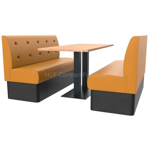 Floating Button Back 6 Seater Booth Set