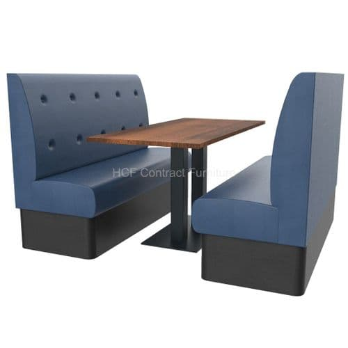 Floating Button Back 6 Seater Booth Set - High Back