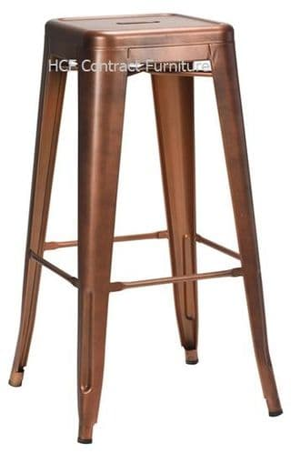 French Bistro High Stool - Copper (O)