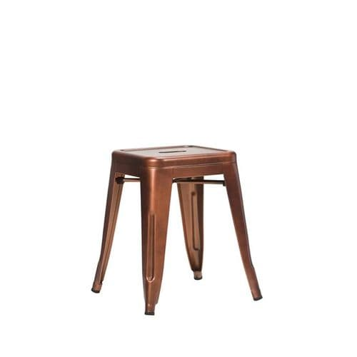 French Bistro Low Stool - Copper (O)