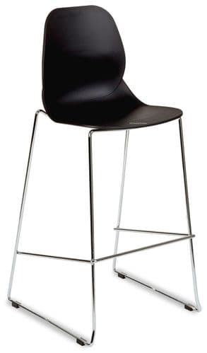Fulham High Stool (Chrome Stackable) 9 Colours (L)