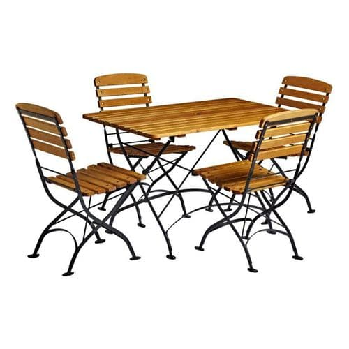 HCF 1200mm Oblong Contract Quality - Folding Dining Set (P)
