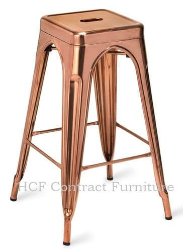 HCF 576 French Bistro High Stool-Polished Copper(L)