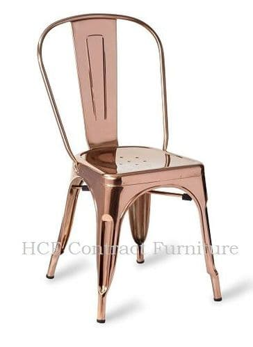 HCF 960 French Bistro Side Chair - Polished Copper (L)