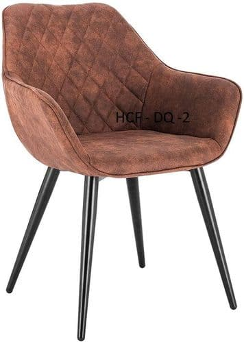 HCF-DQ1 - Diamond Quilted Chair - Distressed Brown Faux Leather