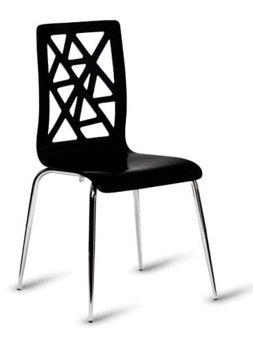 HCF603 High Gloss Black Chair (GL) 2 Colours Available-IN STOCK