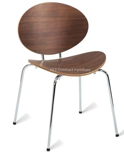 HCF900 Walnut Chair (GL) 2 Colours-IN STOCK