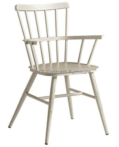 Heritage Arm Chair Retro White (P)