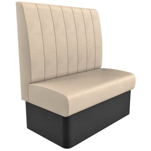 High Back - 2 Seater Kansas Fluted - 1050mm Booth