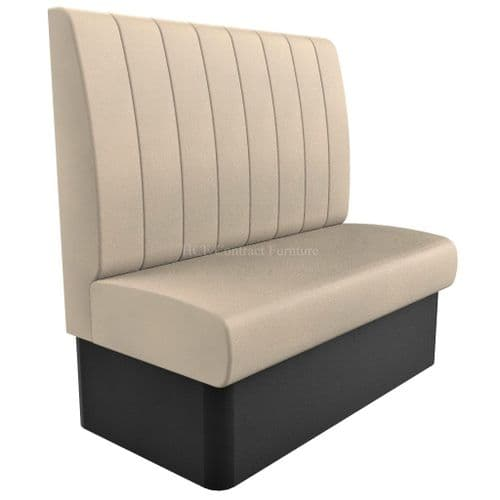 High Back - 2 Seater Kansas Fluted - 1200mm Booth