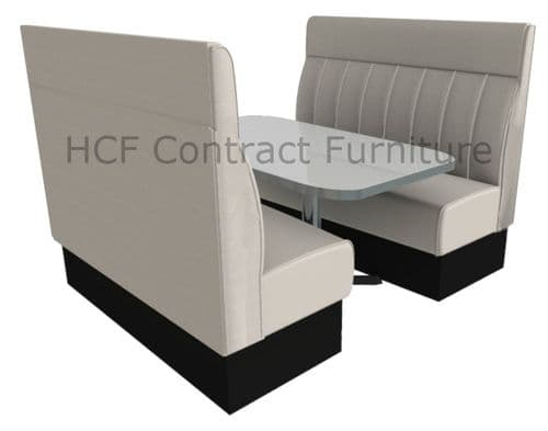 High Back Deep Fluted Booth Seating