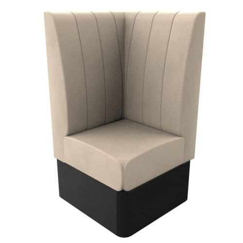 High Back - Single Corner Seat Kansas Fluted - 700mm Booth
