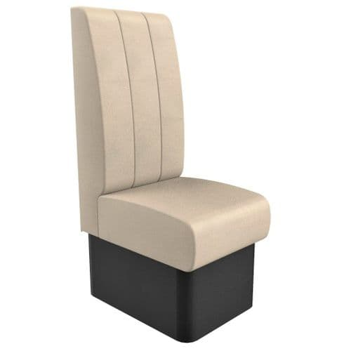High Back - Single Seater Kansas Fluted - 450mm Booth