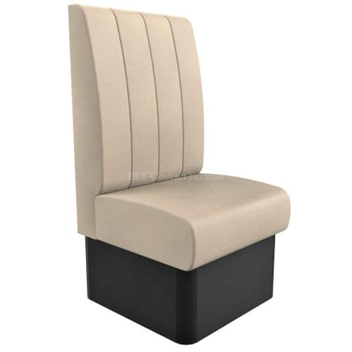 High Back - Single Seater Kansas Fluted - 600mm Booth