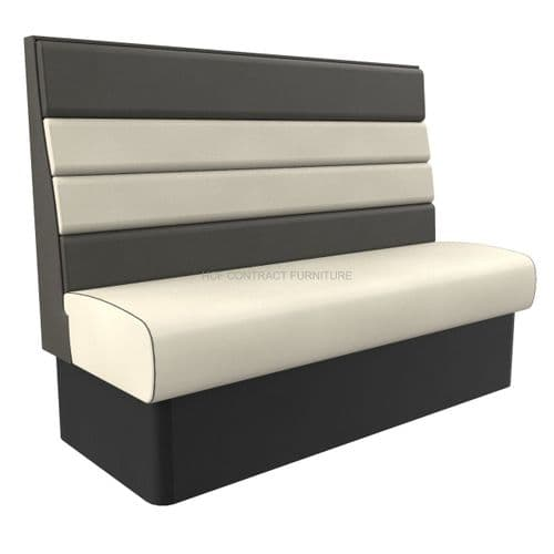 High Back Texas Horizontal Fluted 3 Seater - 1500MM Booth