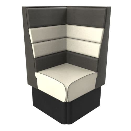 High Back Texas Horizontal Fluted Corner Seat - 700mm Booth