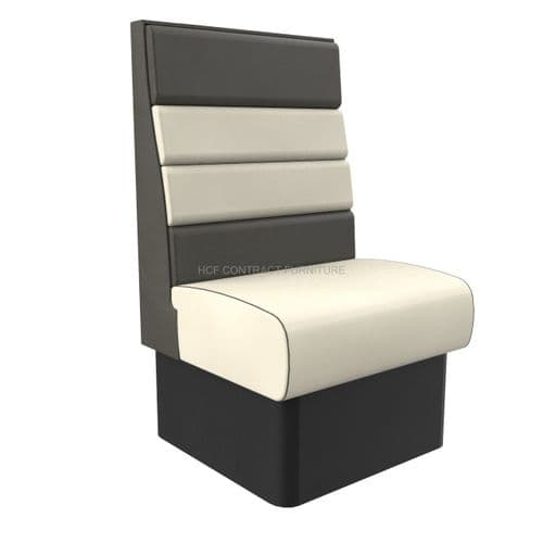 High Back Texas Horizontal Fluted Single Seater - 600MM Booth