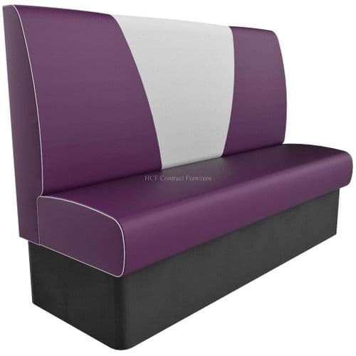 High Back V Style 3 Seater - 1650MM Booth