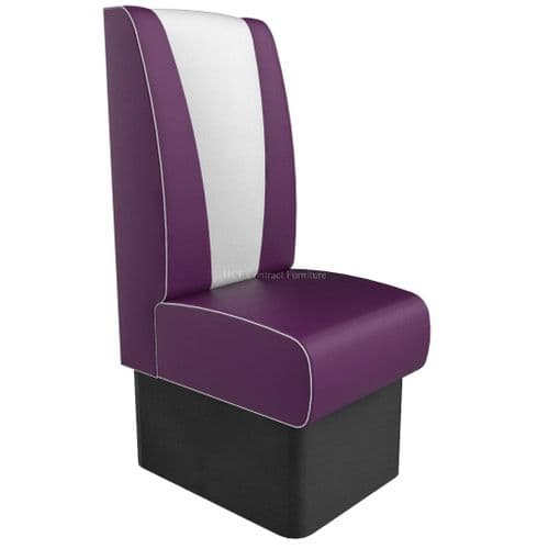 High Back V Style Single Seater - 450MM Booth