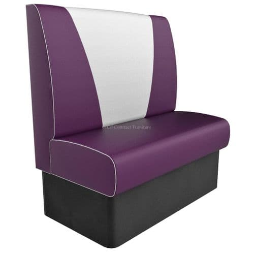 High Back VStyle 2 Seater - 1050MM Booth