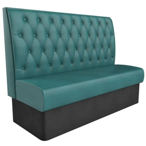 Kansas Buttoned High Back - 3 Seater - 1500mm Booth