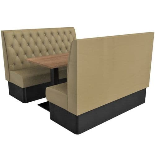 Kansas Buttoned High Back - 6 Seater Booth Set