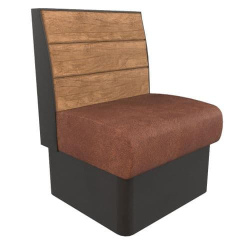 Kansas Plank 1 Seater - 600mm Booth