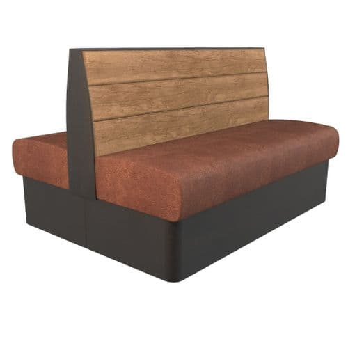 Kansas Plank 2 Seater - 1200mm Back2Back Booth