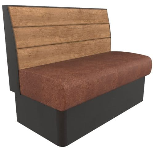 Kansas Plank 2 Seater - 1200mm Booth