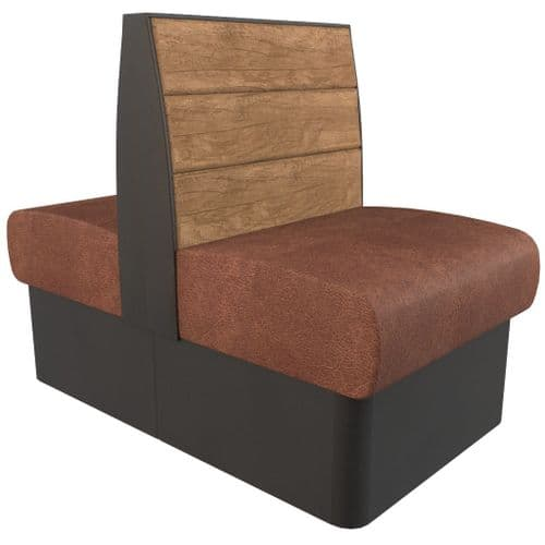 Kansas Plank 2 Seater - 600mm Back2Back Booth