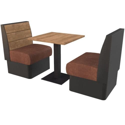 Kansas Plank - Complete 2 Seater Booth Set