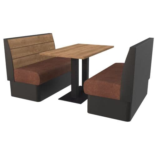 Kansas Plank - Complete 4 Seater Booth Set