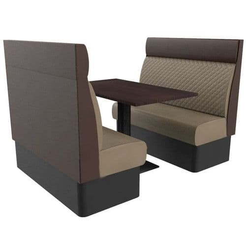 Kansas Quilted High Back 4 Seater Booth Set 1200mm
