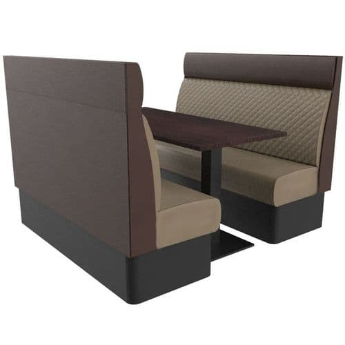 Kansas Quilted High Back 6 Seater Booth Set