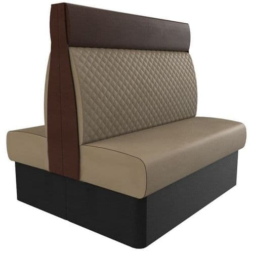 Kansas Quilted High Back Twin Back2Back 1200mm Booth