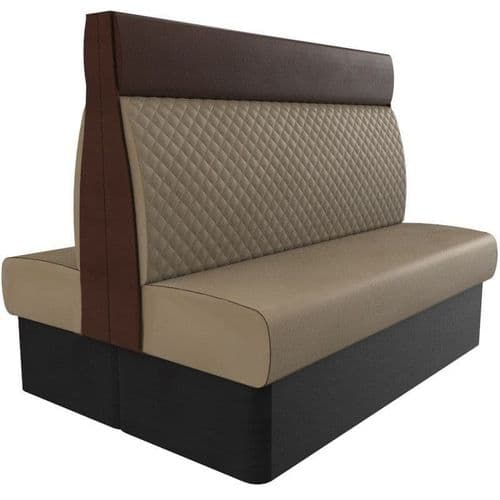 Kansas Quilted High Back Twin Back2Back 1500mm Booth