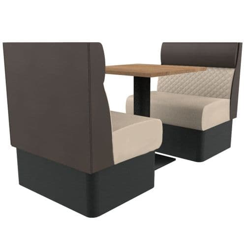 Kansas Quilted Standard Height 2 Seater Booth Set 600mm