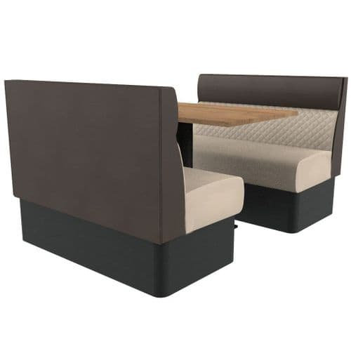 Kansas Quilted Standard Height 4 Seater Booth Set 1200mm