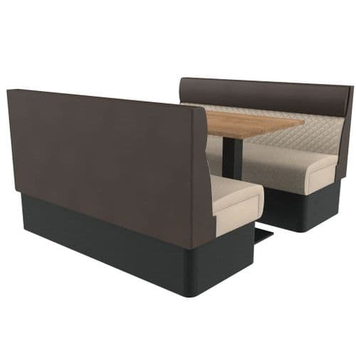 Kansas Quilted Standard Height 6 Seater Booth Set