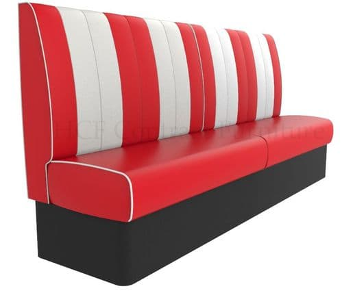 Kansas Retro Fluted Back Banquette/Booth Seating - High Back