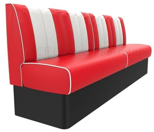 Kansas Retro Fluted Back Banquette/Booth Seating - Standard Height