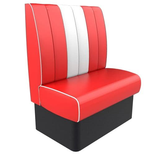 Kansas Retro Fluted High Back - 2 Seater 900mm Booth