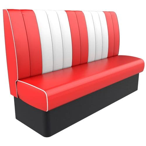 Kansas Retro Fluted High Back 3 - 4 Seater 1800mm Booth
