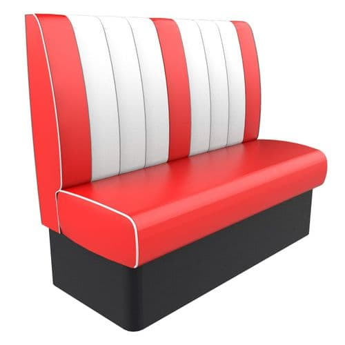 Kansas Retro Fluted High Back - 3 Seater 1350mm Booth