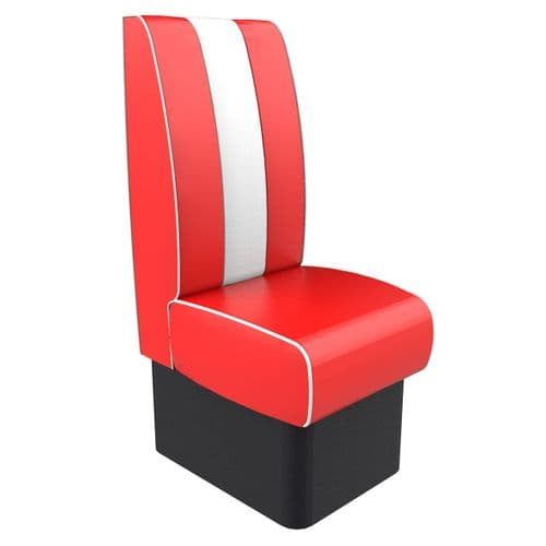 Kansas Retro Fluted High Back - Single Seater 450mm Booth