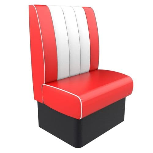 Kansas Retro Fluted High Back - Single Seater 750mm Booth