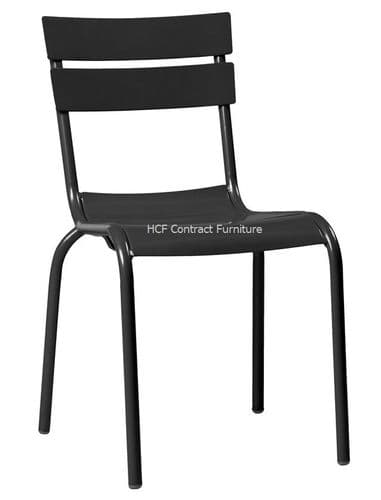 Lagoon Aluminium Side Chair - Black (P)